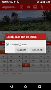 Argentina Calendario 2017 - náhled