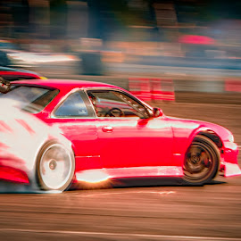 Red Drifter by Andre Oelofse - Sports & Fitness Motorsports ( car, drifting, driving, driver, motorsport, smoke )