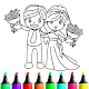 wedding coloring pages APK