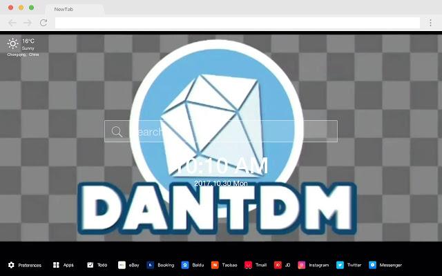 Dantdm pop HD wallpaper new tab page theme