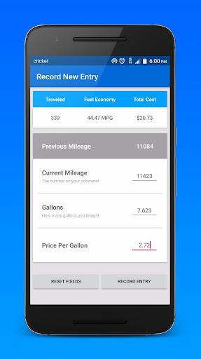 玩免費遊戲APP|下載Gas Wallet: MPG Calculator app不用錢|硬是要APP