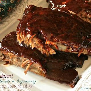 Cabernet Dark Chocolate & Boysenberry Baby Back Ribs