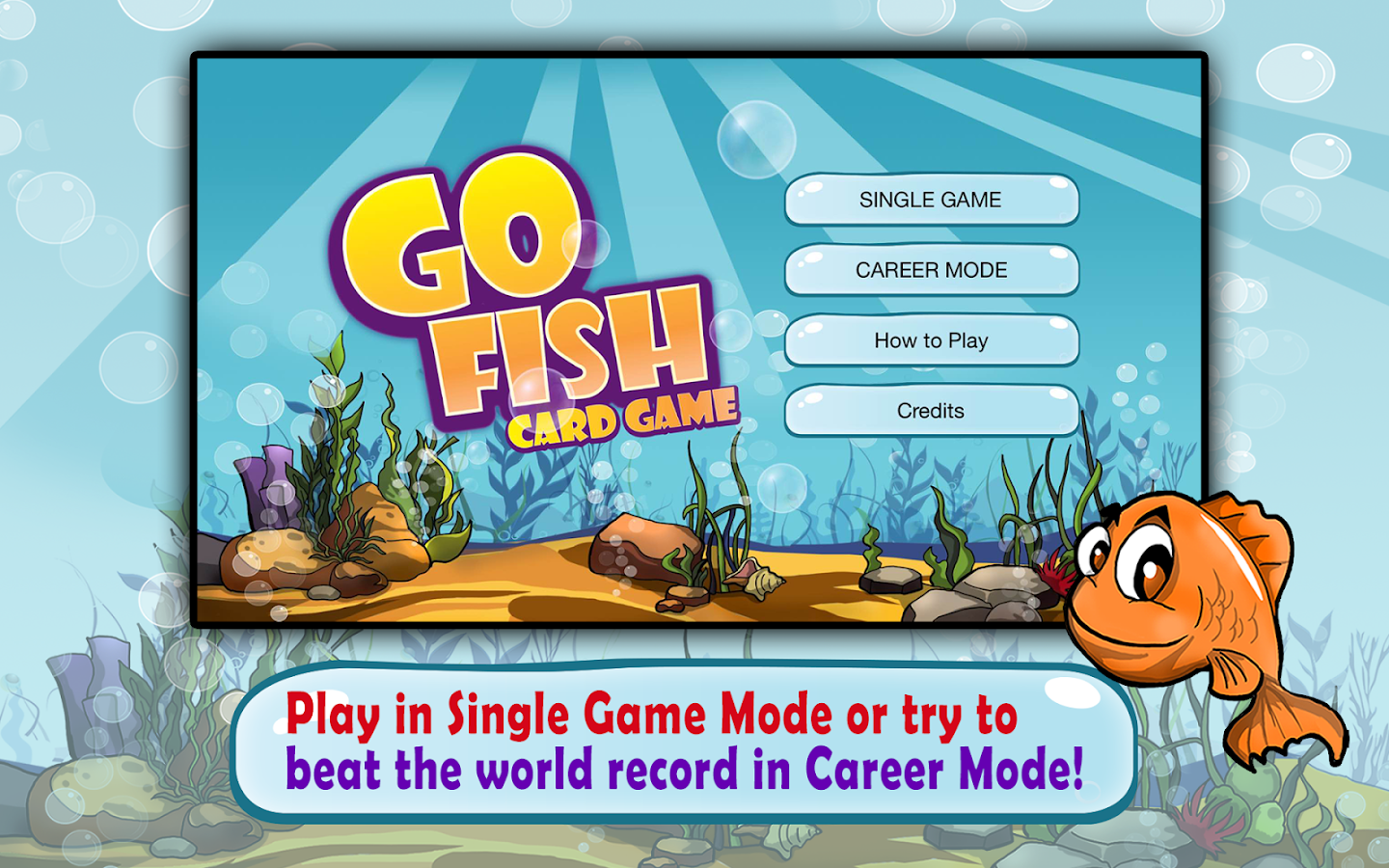 Go fish kids card game free android apps on google play for Go fish cards