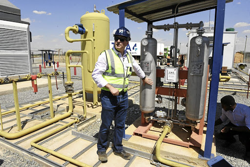 CEO Stefano Marani at Renergen's gas project in Virginia in the Free State. Picture: FREDDY MAVUNDA