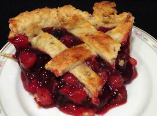 "Deep Dish Cherry Pie ""Yummy crust + delectable filling = all-star cherry..."