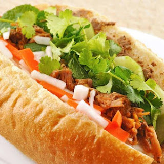 Vietnamese Pulled Pork Sandwich (Banh Mi).