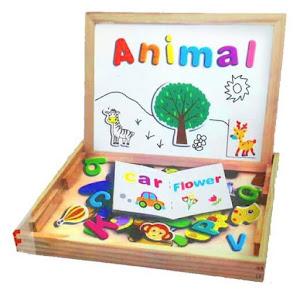 Jucarii educative din lemn: Socotitoare copii + Puzzle Magnetic