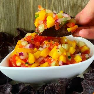 Watermelon Mango Salsa Appetizer.