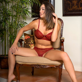 Lounging by Kens Yeaglin - People Portraits of Women ( nikkii darling, tucson, lingerie, house, sitting )