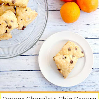 Orange Chocolate Chip Scones with Vanilla-Orange Glaze Recipe