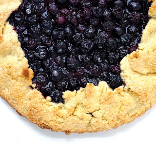Blueberry Galette with Cornmeal Crust