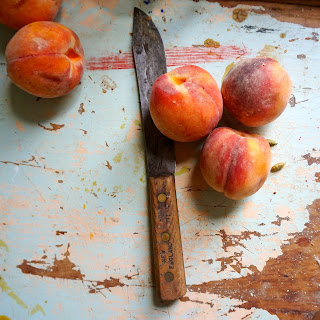 Peaches in Cardamom Syrup