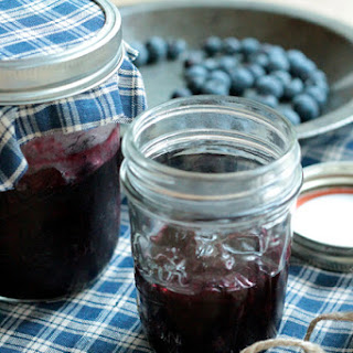 Reduced Sugar Blueberry Sauce.