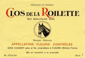 Logo for Clos De La Roilette Fleurie Beaujolais Rouge