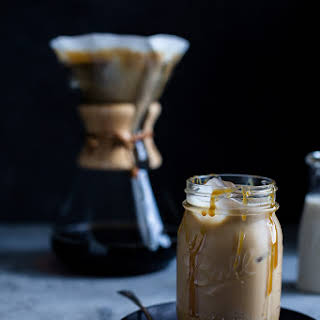 Spiked Salted Caramel Iced Coffee.
