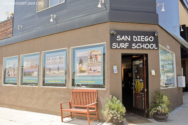 Surfing Lessons at San Diego Surf School.