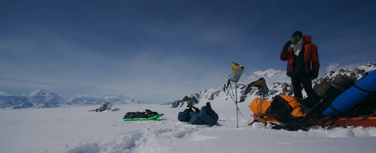 Photo: Rest on the pass between Seward and Hubbard Glacier