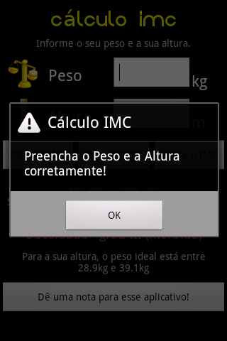 Cálculo IMC screenshot 3