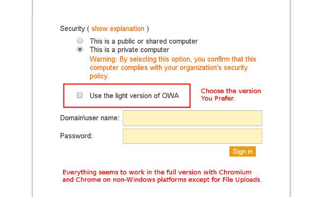 OWA User-Agent