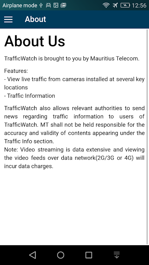 Traffic Watch- screenshot