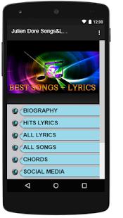 Julien Dore Songs&Lyrics. - náhled