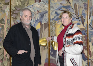 Photo: Interview mit Peter Eötvös in der Wiener Staatsoper am 26.2.2016. Peter Eötvös und Renate Wagner. Copyright: Barbara Zeininger