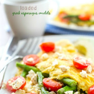 Loaded Greek Asparagus Omelets.