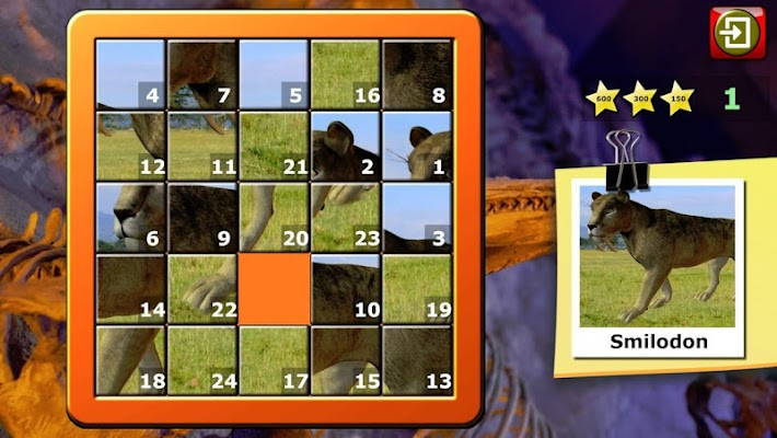 Kids Dinosaur Rex Slide Puzzle - screenshot