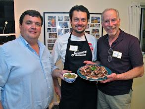 Photo: Jack, Dave and Richard – the lemon grass pork team