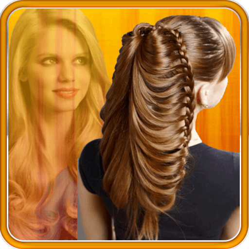 Ladder braid ponytail hairstyle for medium long hair tutorial.