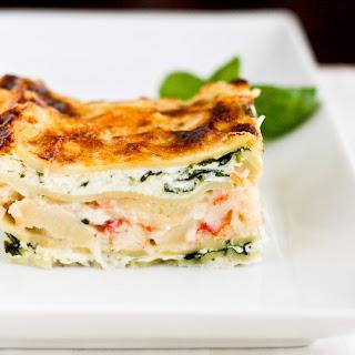 White Seafood Lasagna.