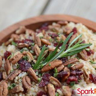 Rosemary-Balsamic Brown Rice with Pecans and Cranberries Recipe