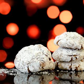 Chocolate Almond Christmas Cookies.
