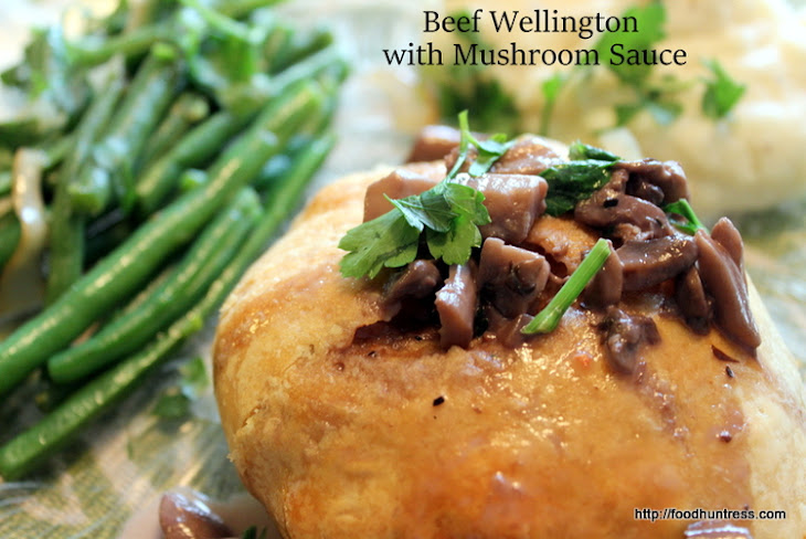 Delicious Beef Wellington with Mushroom Sauce Recipe