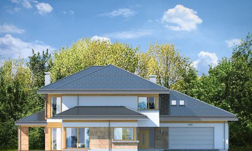 Dom z widokiem E - Elewacja przednia