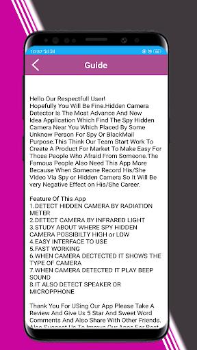 Hidden Camera Detector - Spy Device Detector App Report on
