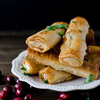 Cranberry, Cheese & Turkey Filo Rolls (Phyllo Rolls)
