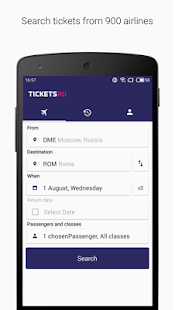 Tickets.ru Air tickets- screenshot thumbnail