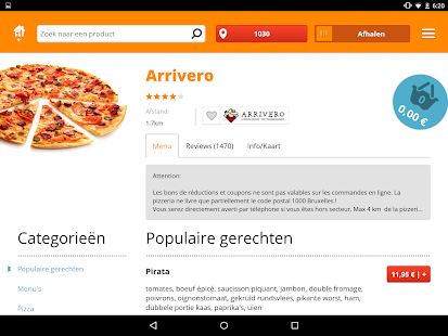 Pizza.be - Order food online - screenshot thumbnail
