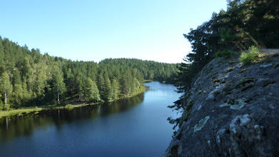 Photo: The crag was right next to a lake