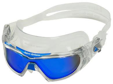 Aqua Sphere Vista Pro Goggles - Transparent w/ Blue Titanium Mirro Lens alternate image 2