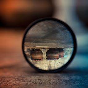 mirror by Ajin Ponipas - Abstract Macro