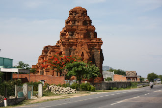 Photo: Year 2 Day 19 - Cham Towers on the Side of Highway 1, Just Outside Cam Ranh