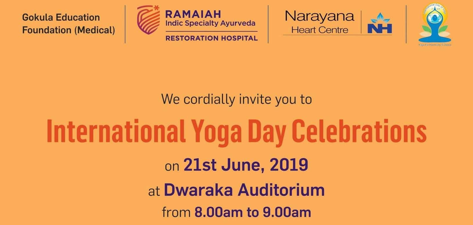 Intl Yoga Day Celebrations
