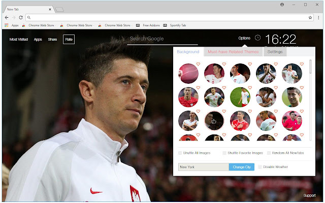 Robert Lewandowski - Bayern Munich New Tab