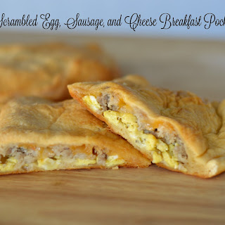 Scrambled Egg, Sausage, and Cheese Breakfast Pockets