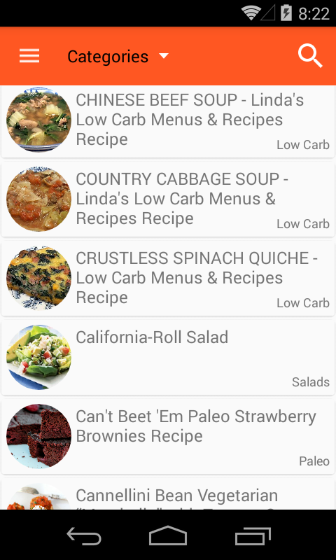 Healthy Recipes Free- screenshot