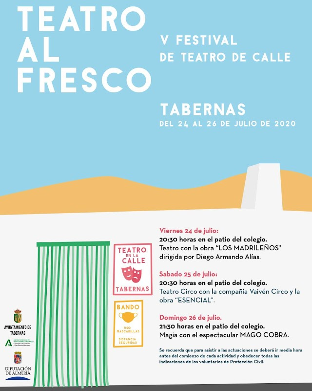 Cartel del V Festival de Teatro de Calle.