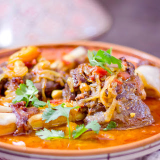 Lamb Tagine with Chickpeas and Apricots.