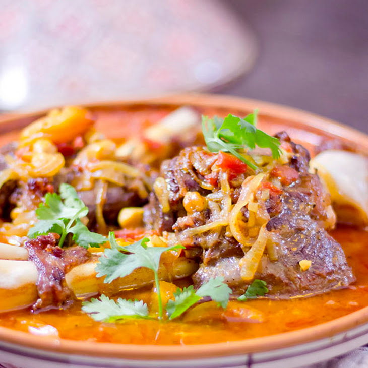 Lamb Tagine with Chickpeas and Apricots Recipe | Yummly